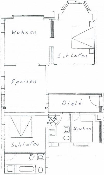 Aufteilung 110 m²